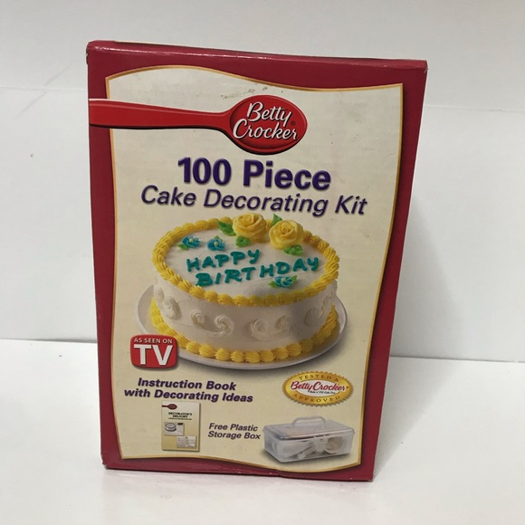 Prime Betty Crocker Kitchen 100 Pc Cake Decorating Toolkit Poshmark Funny Birthday Cards Online Barepcheapnameinfo
